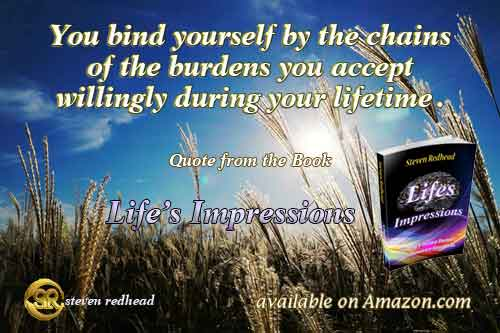 Life's Impressions Book Quote - By Steven Redhead